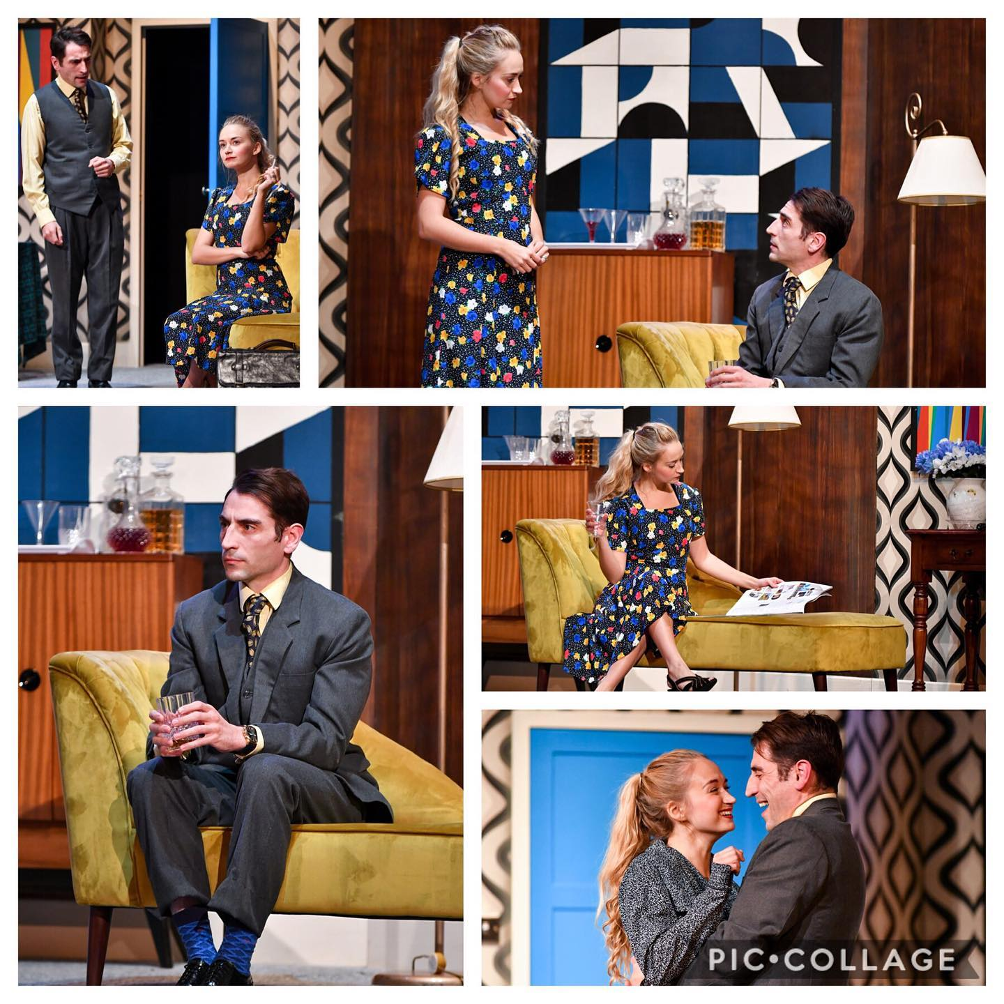 Photograph montage of images from 'The Lover' by Harold Pinter (2019)
